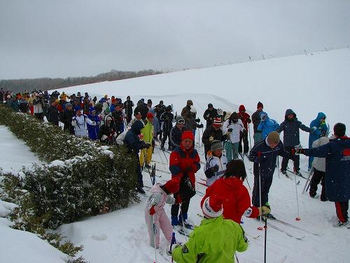 歩くスキー大会スタート