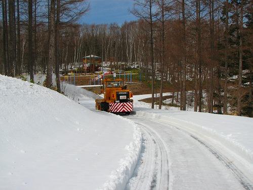 ロータリーで除雪