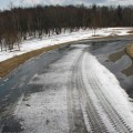 除雪後の園路