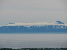 オホーツク海と知床連山