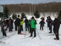 歩くスキーコース出発!